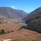 Picture - Fields in the Urubamba Valley.