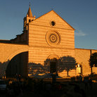 Picture - Late afternoon at the church of Santa Chiara in Assisi.