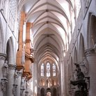 Picture - Interior of Cathedral St Michel in Brussels.