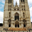 Picture - The front of St Michel Cathedral in Brussel.s.