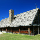 Picture - The reconstructed 17th Century Church at Saint-Marie-Among-the-Hurons near Midland.