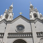 Picture - The facade of St Peter and Paul Church in North Beach, San Francisco.