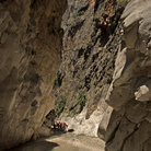 Picture - Visitors at the Saklikent Gorge near Fethiye.