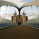 Picture - Millennium Bridge, Salford Quays, Manchester.