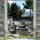 Picture - An old doorway looking out over the ruins of Salona.