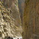 Picture - Steep walls of the Samaria Gorge.