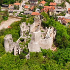 Picture - The castle ruins above the town of Samobor.