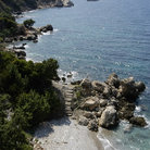 Picture - The coastline of Samos Island.