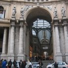 Picture - Shoppers outside the Galleria Umberto in Naples.
