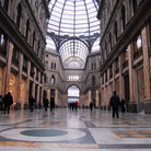 Picture - Interior of Galleria Umberto in Naples.