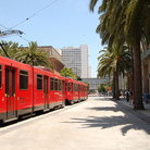 Picture - San Diego trolley in downtown.
