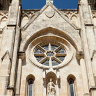 Picture - The rose window of the San Fernando Cathedral in San Antonio.