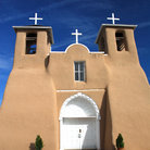 Picture - Entrance to San Francisco de Asis, Ranchos de Taos, New Mexico.