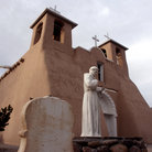 Picture - Historical Church of San Francisco de Asis in Rancho de Taos, New Mexico.