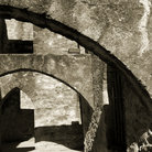 Picture - Arches in the San Jose Mission in San Antonio.