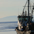 Picture - Fishing trawler setting off from San Juan Island, Washington.