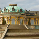 Picture - Stairs leading to Potsdam's Sanssouci Palace.