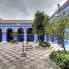 Picture - The courtyard of the Santa Catalina Monastery in Arequipa.