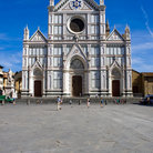 Picture - Front view of the Basilica Santa Croce in Florence.