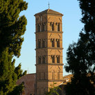 Picture - The tower of Santa Francesca Romana in Rome.