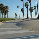 Picture - Bike path on Santa Monica Beach.