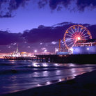 Picture - Santa Monica Pier at sunset.
