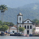 Picture - A distant view to the church of Santa Rita with mountains in behind.