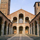Picture - Exterior corridor at the Sant'Ambrogio church in Milan.