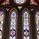 Picture - Stained glass window of Santhome Cathedral Basilica in Chennai.