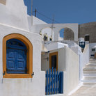 Picture - The village of Pyrgos on Santorini.