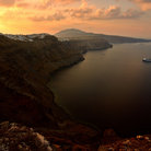 Picture - Overview of the island of Santorini.
