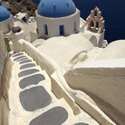 Picture - Cliffside stairs in Santorini.
