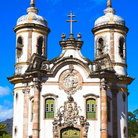 Picture - The historic Sao Francisco de Assis church in Ouro Preto.