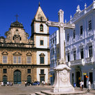 Picture - Sao Francisco church entrance in Spanish Baroque style in Salvador.