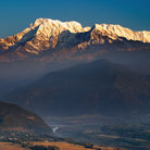 Picture - Annapurna mountain and Sarangkot.