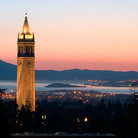 Picture - Sather Tower in the Evening.