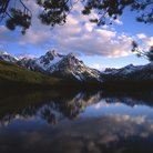 Picture - Mt. McGown reflecting in a lake in Sawtooth National Forest.