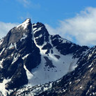 Picture - Rugged peak in the Sawtooth Mountains.