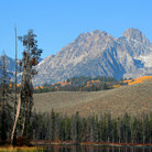 Picture - Mount Heyburn in the Sawtooth Mountain Range.