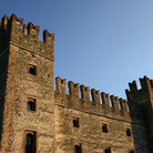 Picture - Scaligers castle in Sirmione on Garda Lake.