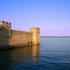 Picture - Wall of Scaligeri's Castle at Sirmione.