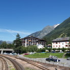 Picture - The train station in Chamonix.