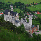 Picture - Looking down over Schloss Neuschwanstein.