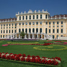Picture - Beautiful grounds in front of the Schonbrunn Palace in Vienna.
