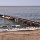 Picture - A sunken ship at an old pier at Seacliff Beach, Santa Cruz.
