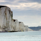 Picture - The famous chalk cliffs of the Seven Sisters.