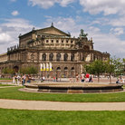 Picture - Semper's Opera House in Theaterplatz in Dresden.