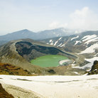Picture - The Okama crater lake in the Zao Range.