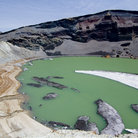 Picture - Green water in a crater in the Zao Range.