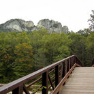 Picture - Bridge in Seneca Rocks National Recreation Area.